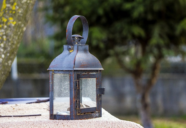 an old outdoor lamp
