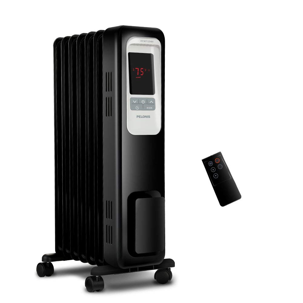 PELONIS Electric Radiator Heater, 1500W Portable Oil Filled Radiator Space Heater